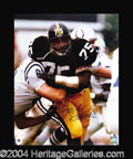 Autographs, Mean Joe Greene Signed 16 x 20 Photograph
