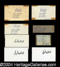 Autographs, Carl Hubbell Ink Signature Lot of 8 PSA/DNA