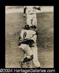 Autographs, Don Larsen & Yogi Berra Perfect Game Signed 11 x 14 Photograph