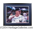 Autographs, Mickey Mantle Signed Framed Lithograph