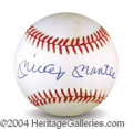 Autographs, Mickey Mantle Beautiful Signed Baseball PSA/DNA