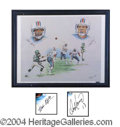 Autographs, Dan Marino & Mark Clayton Signed Litho UDA