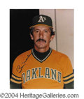 Autographs, Billy Martin Signed A's 8 x 10 Photo