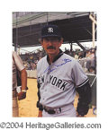 Autographs, Billy Martin Signed Yankees Photo