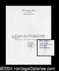 Autographs, Mark McGwire Rare Signed Document PSA/DNA
