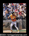 Autographs, Mark McGwire Signed 8 x 10 Color Photo