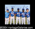Autographs, 1986 New York Mets Signed 16 x 20 Photo