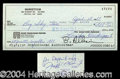 Autographs, Joe Montana Rare Signed Bank Check