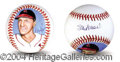 Autographs, Stan Musial Rare Signed Baseball w/ Artwork