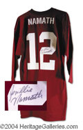Autographs, Joe Namath Unique Signed Alabama Jersey Shirt