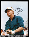 Autographs, Jack Nicklaus Signed 8 x 10 Photo