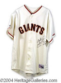 Autographs, Gaylord Perry Signed Giants Jersey w/ Stats