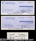 Autographs, Jerry Rice Rare Signed Bank Check Lot
