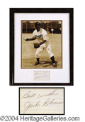 Autographs, Jackie Robinson Signed Framed Display