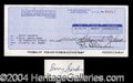 Autographs, Barry Sanders Rare Signed Bank Check