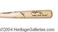 Autographs, Scott Spiezio Sand Frog Group Signed Bat