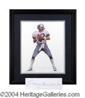 Autographs, Roger Staubach Framed Signed Artists Proof Lithograph