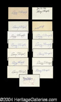 Autographs, Casey Stengel Incredible Signature Lot of 15 PSA/DNA