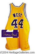 Autographs, Jerry West Signed Lakers Jersey PSA/DNA