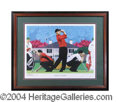 Autographs, Tiger Woods Beautiful Artists Proof Litho