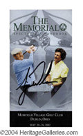 Autographs, Tiger Woods Signed Memorial Tournament Guide