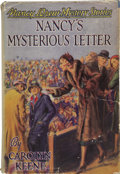 Books:First Editions, Carolyn Keene. Nancy's Mysterious Letter. Illustrated byRussell H. Tandy. New York: Grosset and Dunlap, Publishers ...