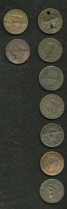Counterstamps, Lot of Nine Counterstamped U.S. Large Cents.... (Total: 9 coins)