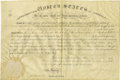 Autographs:U.S. Presidents, James Madison Signed Military Appointment....