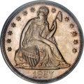 Proof Seated Dollars, 1857 $1 PR64 NGC. CAC....