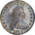 Early Dollars, 1798 $1 Large Eagle, Pointed 9 MS63 NGC....