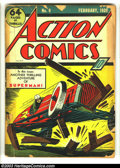 Golden Age (1938-1955):Superhero, Action Comics #9 (DC, 1939) Condition: PR. Guardineer cover and art. Baily, Shuster, Kane, and Gustavson art. No back cover....