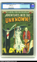 Golden Age (1938-1955):Horror, Adventures Into the Unknown #27 (ACG, 1952) CGC FN/VF 7.0 Light tanto off-white pages. Al Williamson and Roy Krenkel art. O...