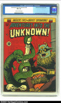 Golden Age (1938-1955):Horror, Adventures Into the Unknown #34 (ACG, 1952) CGC FN+ 6.5 Cream tooff-white pages. Lou Cameron and Harry Lazarus art. Overstr...