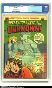 Adventures Into the Unknown #37 (ACG, 1952) CGC VF 8.0 Cream to off-white pages. Harry Lazarus art. Overstreet 2003 VF 8...