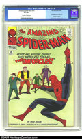 Silver Age (1956-1969):Superhero, Amazing Spider-Man #10 (Marvel, 1964) CGC VF+ 8.5 Off-white to white pages. First appearance of Big Man and the Enforcers; S...
