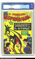 Silver Age (1956-1969):Superhero, Amazing Spider-Man #12 (Marvel, 1964) CGC FN- 5.5 Off-white pages. Dr. Octopus unmasks Spider-Man; Steve Ditko cover and art...