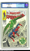 Silver Age (1956-1969):Superhero, Amazing Spider-Man #64 (Marvel, 1968) CGC NM 9.4 Off-white to white pages. Wow! What a beautiful book! This is a fantastic, ...