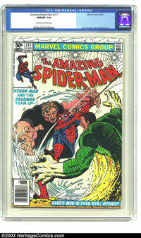 Amazing Spider-Man #217 (Marvel, 1981) CGC NM/MT 9.8 Off-white to white pages. John Romita Jr. and Jim Mooney art. Overs...