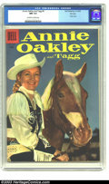 Silver Age (1956-1969):Western, Annie Oakley and Tagg #9 File Copy (Dell, 1956) CGC NM 9.4Off-white to white pages. Photo cover. Overstreet 2003 NM 9.4val...