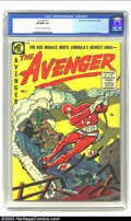 Golden Age (1938-1955):Superhero, Avenger #1 (Magazine Enterprises, 1955) CGC VF/NM 9.0 Cream to off-white pages. 1955 wasn't the right time for introducing n...