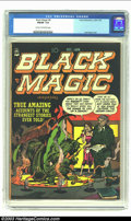 Golden Age (1938-1955):Horror, Black Magic #8 (Prize, 1951) CGC FN/VF 7.0 Cream to off-whitepages. Dramatic Jack Kirby cover. Overstreet 2003 FN 6.0 value...