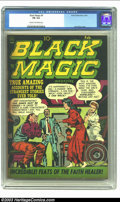 Golden Age (1938-1955):Horror, Black Magic #9 (Prize, 1952) CGC FN 6.0 Cream to off-white pages.Jack Kirby cover. Overstreet 2003 FN 6.0 value = $78. Fr...
