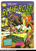 Golden Age (1938-1955):Science Fiction, Blue Bolt v2 #11 (Novelty Press, 1942) Condition: VG. Looks better,but has 2 1/2 inch spine split at top. Overstreet 2003 V...