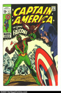 Silver Age (1956-1969):Superhero, Captain America #117 (Marvel, 1969) Condition: FN/VF. 1st appearance of Falcon. Overstreet 2003 FN 6.0 value = $18; VF 8.0 v...