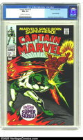 Silver Age (1956-1969):Superhero, Captain Marvel #2 (Marvel, 1968) CGC NM+ 9.6 Off-white to white pages. Super Skrull cover story; Gene Colan and Vince Collet...
