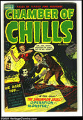 Golden Age (1938-1955):Horror, Chamber of Chills #5 (Harvey, 1952) Condition: FN-. Decapitation,acid in face scene. Really cool Harvey Pre-code horror com...