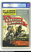 Golden Age (1938-1955):Miscellaneous, Classics Illustrated #20 The Corsican Brothers (Gilberton, 1949) CGC NM 9.4 Off-white pages. The Corsican Brothers. HRN 62. ...