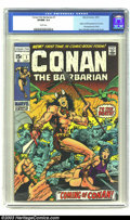 Bronze Age (1970-1979):Miscellaneous, Conan The Barbarian #1 (Marvel, 1970) CGC VF/NM 9.0 White pages.Beautiful copy featuring the first appearances of Conan and...