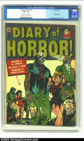 Golden Age (1938-1955):Horror, Diary of Horror #1 (Avon, 1952) CGC VG+ 4.5 Cream to off-whitepages. Hollingsworth bondage cover and interior art. Overstre...