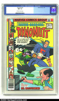 Bronze Age (1970-1979):Cartoon Character, Dynomutt #2 (Marvel, 1976) CGC NM- 9.2 Off-white to white pages.Features Blue Falcon and Scooby Doo. Overstreet 2003 NM 9.4...